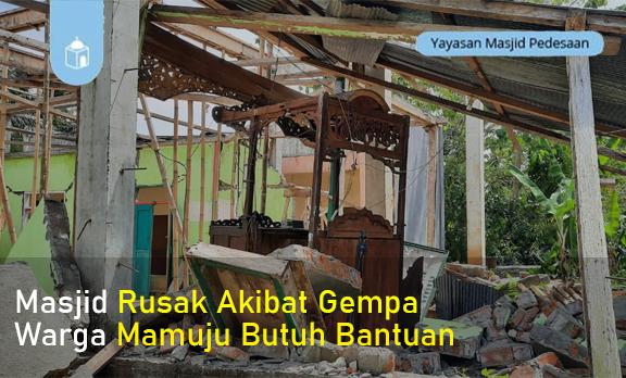 Perbaiki Masjid Hancur Terkena Gempa SulBar